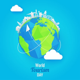 World tourism day background.