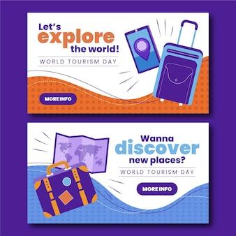Set di banner per la giornata mondiale del turismo