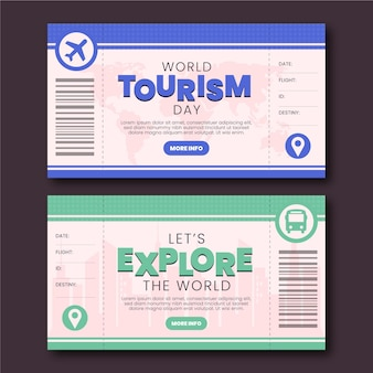 World tourism day banners set