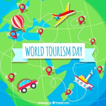 World tourism day, different destinations around the world