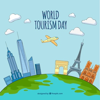 World tourism day, different monuments around the world