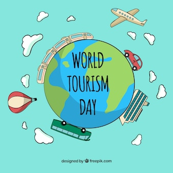 World tourism day, different transport around the world