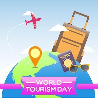 World tourism day illustration