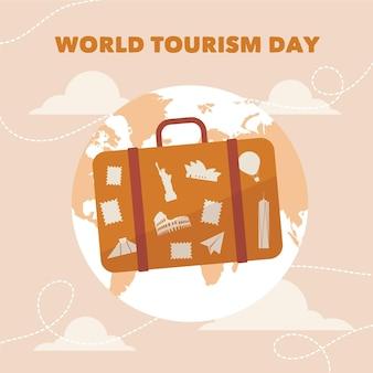 Всемирный день туризма иллюстрация