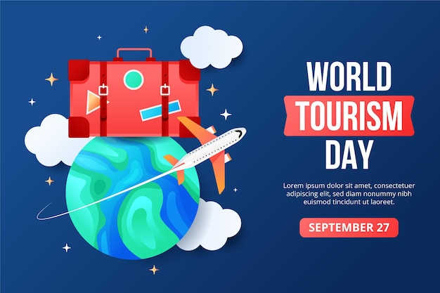 World tourism day illustration