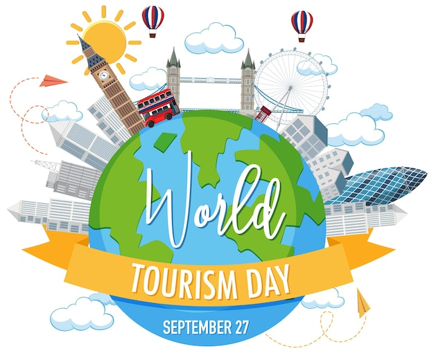 World tourism day symbol