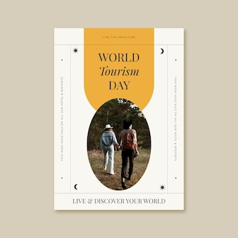 World tourism day vertical poster template