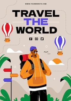 세계 관광의 날 세로 포스터 템플릿
