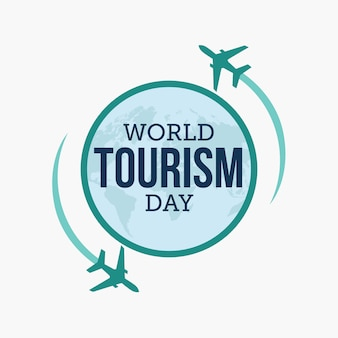 World tourism day Premium Vector