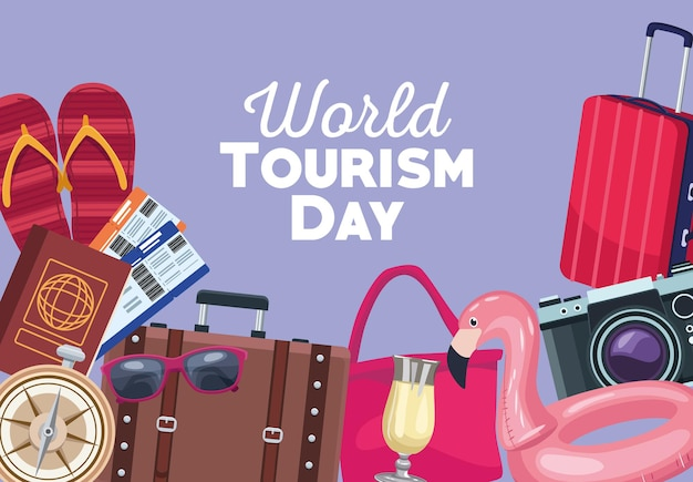 세계 관광 아이콘 프레임