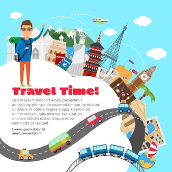 World travel and summer vacation planning template