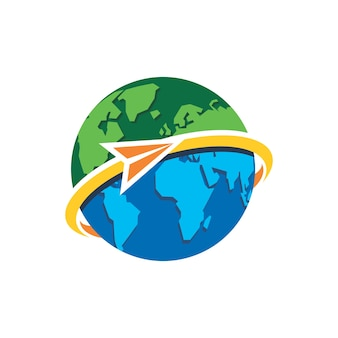 世界旅行のロゴデザインテンプレート