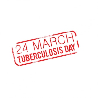 World tuberculosis day, background with a label