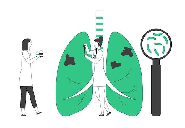 World tuberculosis day concept. Premium Vector
