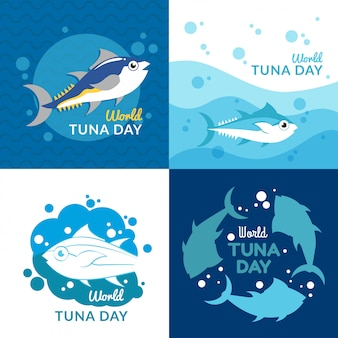 World tuna day illustration