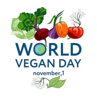 World vegan day.