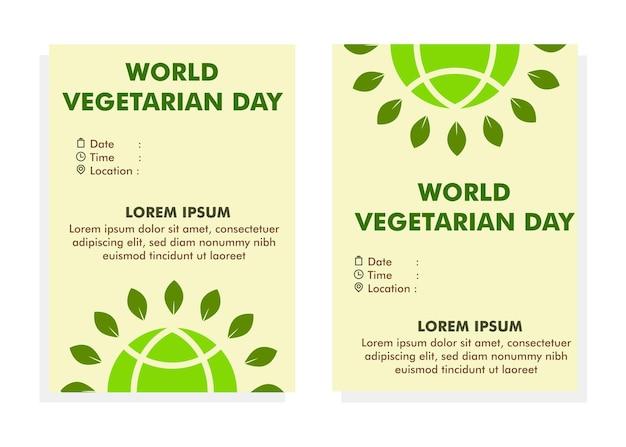 세계 채식의 날 포스터 디자인 템플릿 전단지 디자인 템플릿