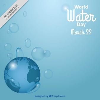 Всемирный день воды фон с землей