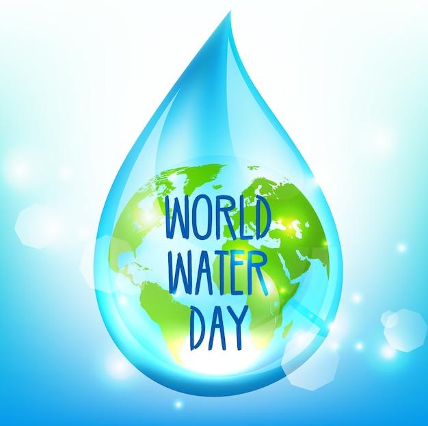 World water day on blue backrgound