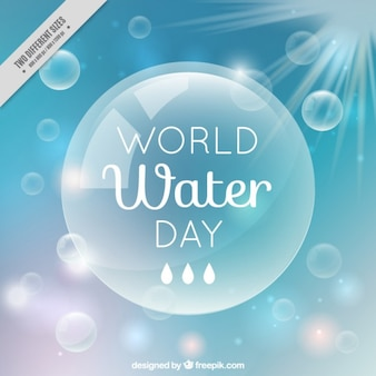 World water day bubble background