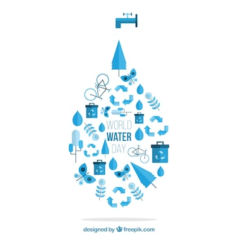 World Water Day drop background