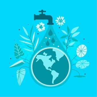 World water day hand drawn