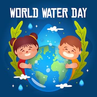 Всемирный день воды иллюстрация