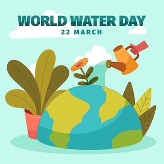 Illustrazione della giornata mondiale dell'acqua