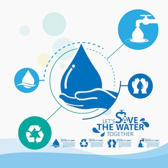World water day , save the water   design template