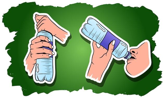 Всемирный день воды. вода в пластиковой бутылке.