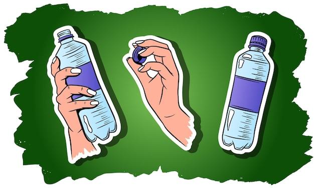 世界水の日。ペットボトルの水。