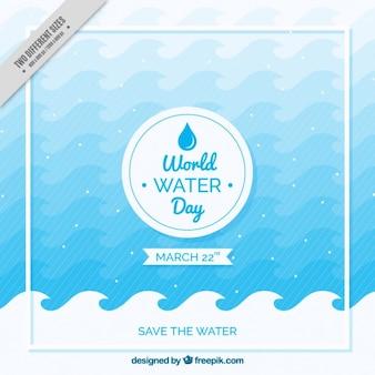 世界水の日の波背景