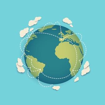 ワールドワイドネットワークまたはグローバルコミュニケーションアイコン Premiumベクター