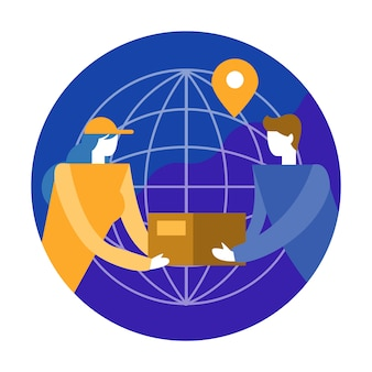 World wide Shipping and cargo delivery concept.