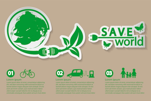 World with eco-friendly concept ideas