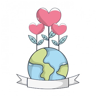 World with flowers