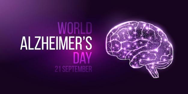 Баннер всемирного дня борьбы с болезнью альцгеймера.