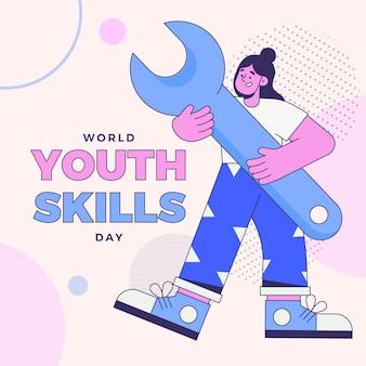 Иллюстрация всемирного дня навыков молодежи