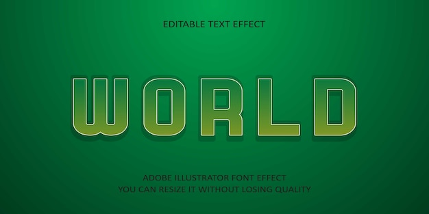 World редактируемый текст эффект шрифта