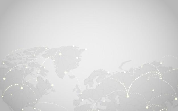 전세계 연결 회색 배경 일러스트 벡터