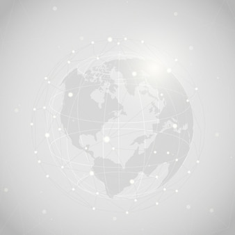 Worldwide connection gray background illustration vector