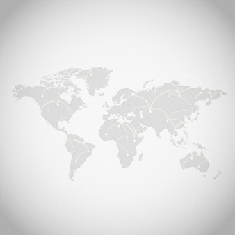 Worldwide connection gray background illustration