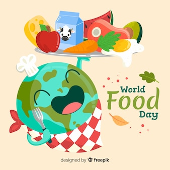 Worldwide food day hand drawn