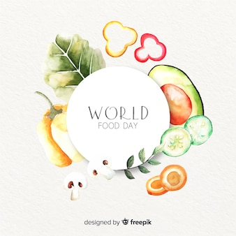 Worldwide food day with delicious healthy veggies