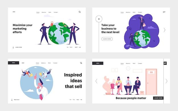 Целевая страница найма работы и поиска идей по всему миру