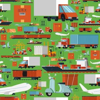 Worldwide logistic seamless pattern