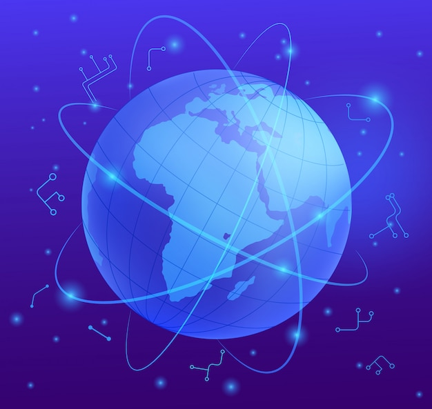 Worldwide telecommunications realistic vector