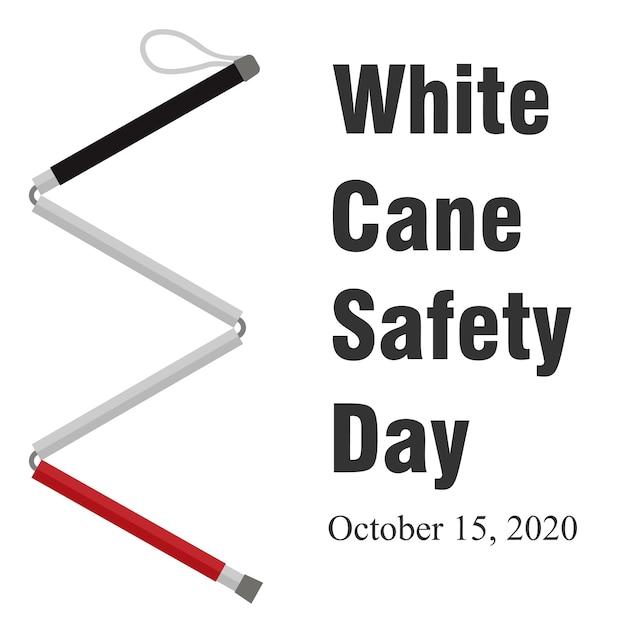 Worldwide white cane safety day  illustration