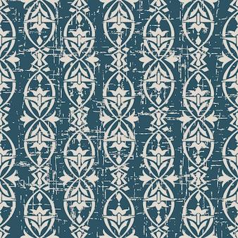 타원형 꽃과 골동품 원활한 패턴을 착용