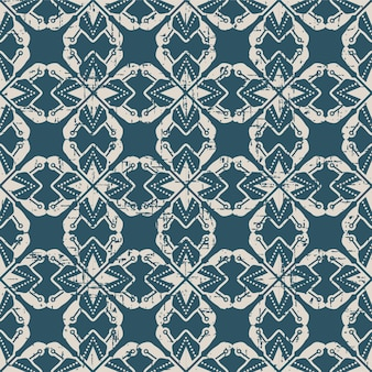 Worn out antique seamless pattern with polygon star geometry dot line